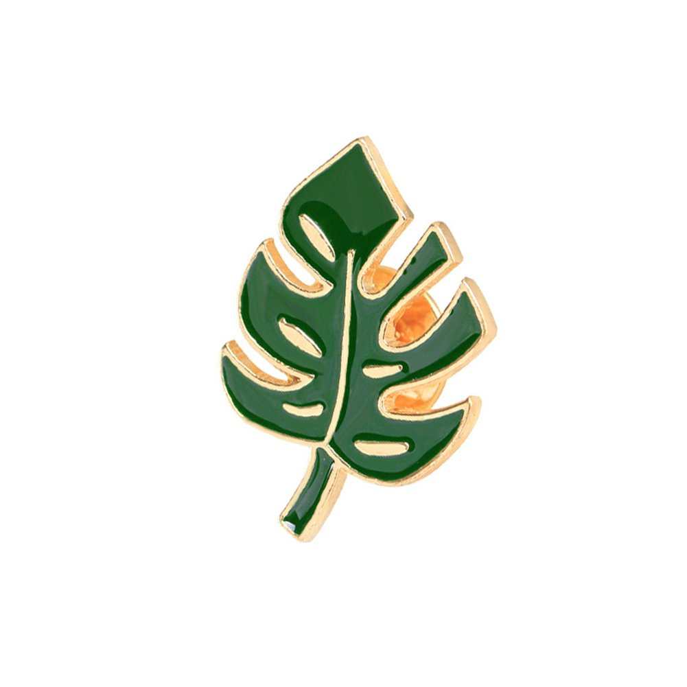 Novelty Cartoon Brooch Pin Cactus Enamel Pin Badge for Clothes Bags Backpacks Palm Leaf Cactus Coconut Tree Breast Pin Muhan