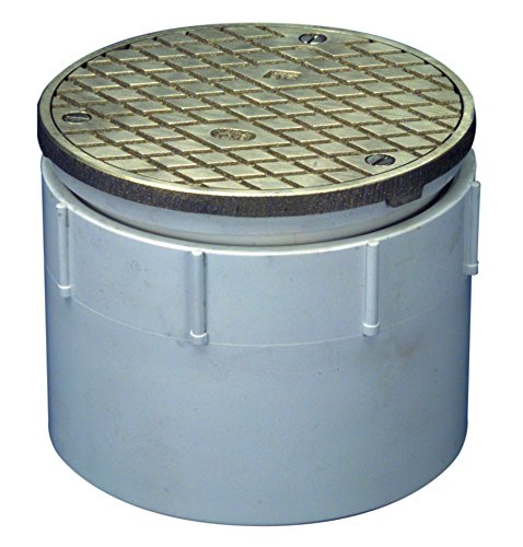 Zurn CO-PV3 PVC Finished Area Adjustable Cleanout with Nickel Bronze Cover, 4