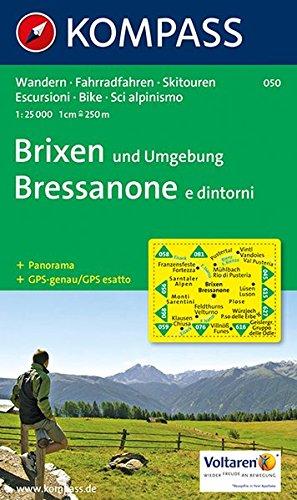 Brixen und Umgebung - Bressanone e dintorni: Wanderkarte mit Radrouten, Skitouren und Panorama. GPS-genau. 1:25000 (KOMPASS-Wanderkarten, Band 50)