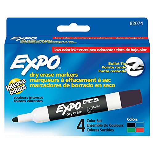 Sanford SAN82074BN Expo 2 Dry Erase Markers, 4 Color Pack, 3 Packs/CT