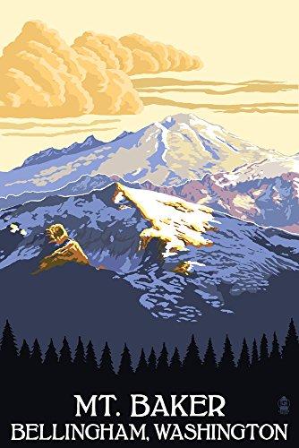Mt. Baker, Washington (12x18 Art Print, Wall Decor Travel Poster)