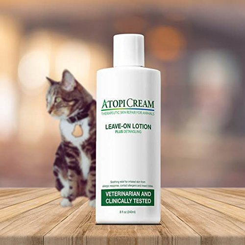 AtopiCream Leave-On Lotion for Pets - Relief of Itching, Skin Irritation and Rashes due to Allergic Response Plus Detangles 8oz by VetriMAX (Image #5)