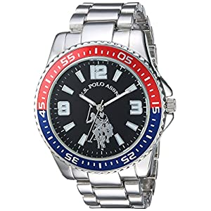 U.S. Polo Assn. Men's Analog-Quartz Watch with Alloy Strap, Silver, 21 (Model: USC80500)