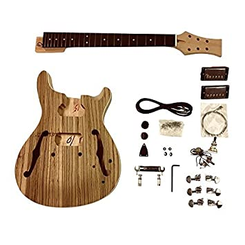 gdprzs .mahogany Semi Cuerpo Hueco con Zebrawood CHAPA CON Blanco RIBETEADO EN Cuerpo guitarra eléctrica