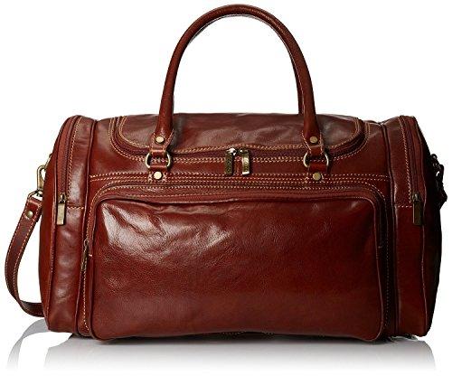 Floto Luggage Torino Duffle Travel Bag, Vecchio Brown, Large (Torino Bag Leather Duffle)