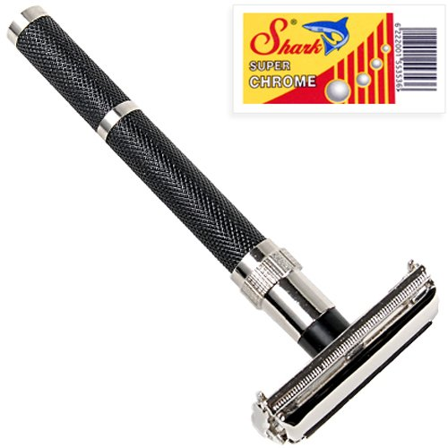 Parker 96R - Long Handle Butterfly Open Double Edge Safety Razor &...