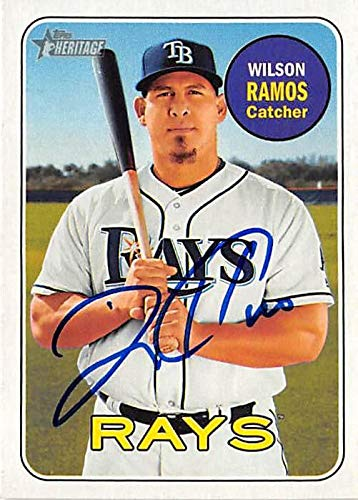 96fae38b91f Image Unavailable. Image not available for. Color  Wilson Ramos autographed  Baseball Card ...