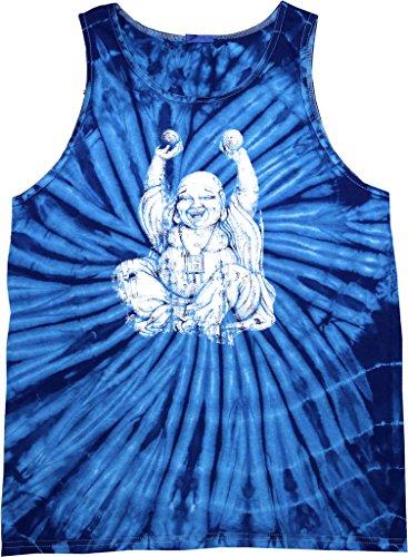 Buy Cool Shirts Laughing Buddha Tie Dye Tank Top, Spider Royal, Large