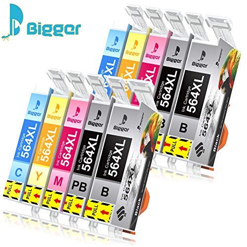 Bigger Ink Cartridge Replacement Compatible with 564XL to use with HP 7510 B8550 C5380 C6375 C6380 D5460 5510 5515 6510 B109 B109a B109n B110a 4620 (2 Black,2 Photo Black,2 Cyan,2 Magenta,2 Yellow) ()
