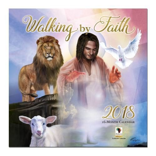 "Office Products : African American Expressions - 2018 Walking by Faith 16 Month Calendar (12"" x 12"") WC-166"
