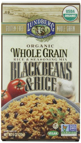 Lundberg Family Farms Organic Whole Grain Rice and Black Beans, 6 Ounce (Pack of 6)