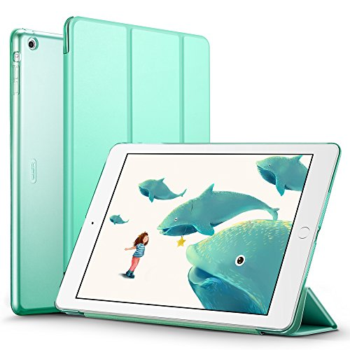 ESR iPad Air Case, Yippee Color Series iPad Air Case iPad 5 Case Slim Lightweight Smart Case Cover with multi-function as Keyboard Stand & Face time/Movie View Stand (Mint Green)