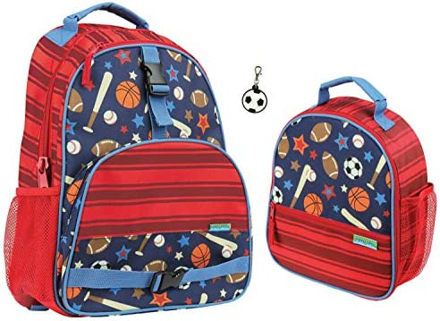 Stephen Joseph Kids Sports Backpack and Lunch Box
