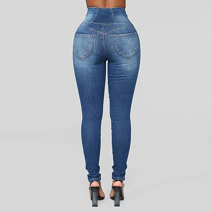 Amazon.com: Lookvv - Pantalones vaqueros para mujer, diseño ...