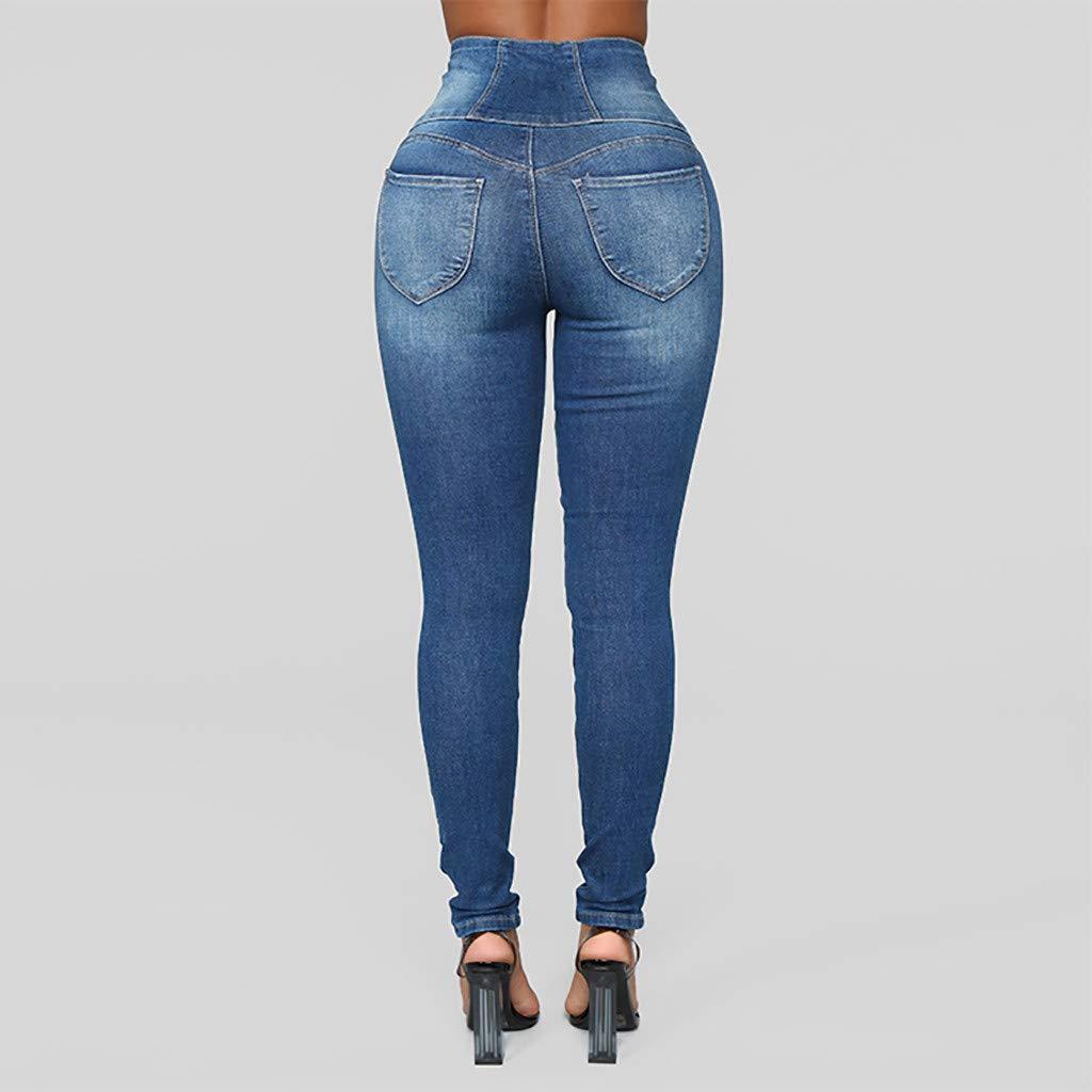 SuperSU Damen Skinny Jeans Denim High Waist Slim Leggings R/öhrenjeans Bleistifthose Bleistift Hose Neue Art Stretchy Hosen Push up H/üfte Elegant Pants Casual Skinny Jeans H/üftjeans R/öhrenjeans