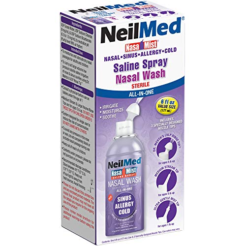 Neil Med Nasa Mist Multi Purpose Saline Spray All in One, 6.0 ounces Unit