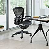 Vinyl Office Chair Mat - 36'' X 48'' - for Hard Floor Tile Color is Frost Scratch, Mark, and Scuff Resistant Protection on Tile, Hardwood, Vinyl, Laminate (36'' x 48'') Comes with White Protective Film