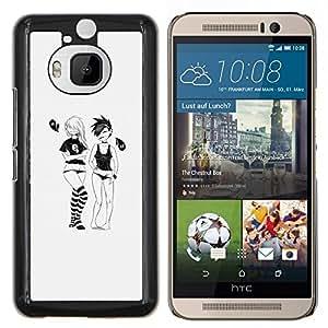 Jordan Colourful Shop - Emo Girls For HTC One M9+ / M9 PLUS Personalizado negro cubierta de la caja de pl????stico