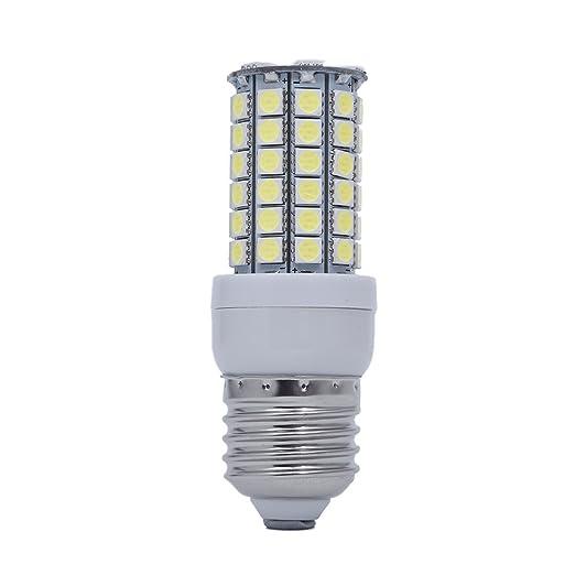 SODIAL(R) E27 8W 69 LED 5050 SMD Foco Lampara Bombilla Luz Blanco Bajo
