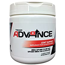 Troop Advance All-Natural Mineral Supplement Joint Support contains Chondroitin Sulfate, MSM, Glucosamine HCI, which Promotes Healing of Skin, Bones, Muscles and Connective Tissue in Cats and Dogs, 300g Jar