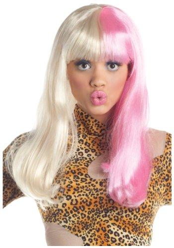 Pink and White Diva Wig - ST