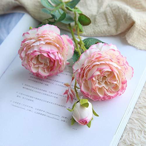 AIUSD Artificial Fake Western Rose Flower Peony Bridal Bouquet Wedding Home Decor MR