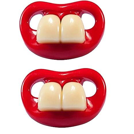 Chupete de silicona divertido dientes de conejo Forma ...