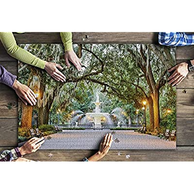 Savannah, Georgia - Forsyth Park 9004584 (Premium 1000 Piece Jigsaw Puzzle for Adults, 20x30, Made in USA!): Toys & Games
