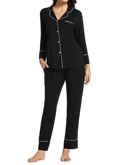 Nachtwäsche Pyjama Baumwolle Damen Schlafanzug Shorts Kurzarm Sleepshirt S-L
