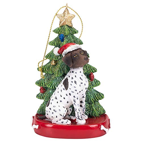 Kurt Adler 4 Inch Santa Dog Resin Christmas Ornament (German Shorthaired - Shorthaired German Ornament Pointer Christmas