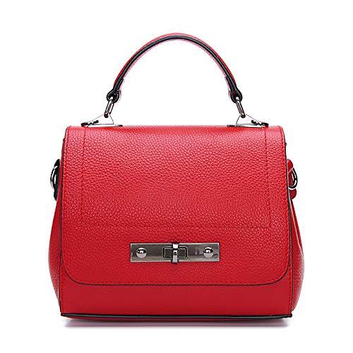 Pelle Moda Portatile Donna Da Red Tracolla A Borsa Casual Messenger In Clamshell ZHqx8wgRq