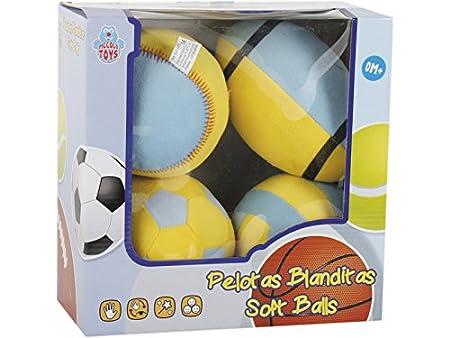 PICCOLOTOYS Pelotas Foam 4 Unidades 12 cm.: Amazon.es: Juguetes y ...