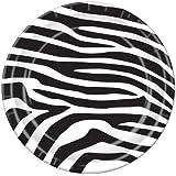 Zebra Print Plates   (8/Pkg)
