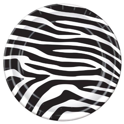 Zebra Print Plates 8 Pkg