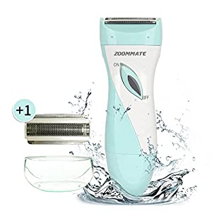 ZOOMMATE Ladies Electric Shaver ,Wet/Dry Use Womens Electric Razor for Armpit Hair Removal, Cordless USB Rechargeable Bikini Razor (Included one replacement blade )