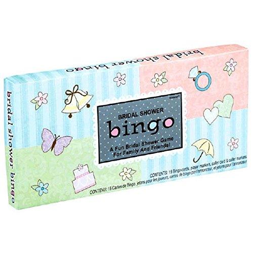 Amscan Avant Garde Bingo Game Bridal Shower Party Novelty Favors, 6.3 x 12.9, Blue/Pink by Amscan