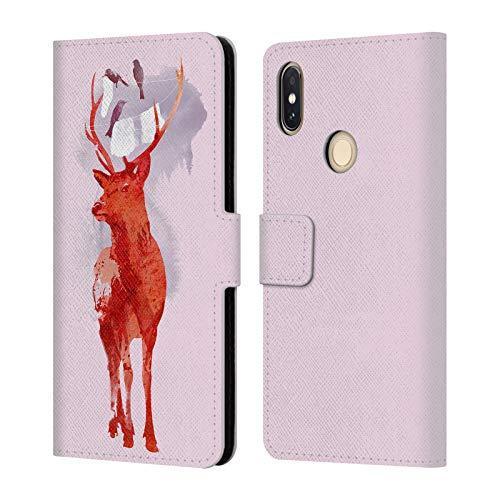 Official Robert Farkas Useless Deer Deer Leather Book Wallet Case Cover for Xiaomi Redmi S2 / Y2 (2018)