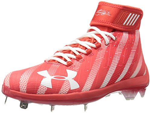Under Armour Men's Harper 2 Mid ST-Limited Edition Baseball Shoe, Red (614)/White, 7