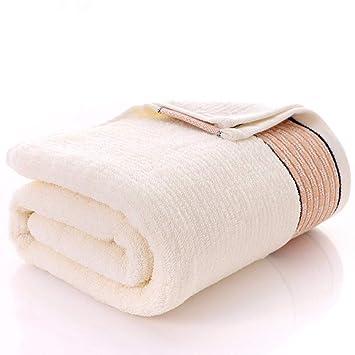 SYXLTSH Toalla de baño algodón Adulto Infantil Absorbente Suave Conjunto Blanco B: Amazon.es: Hogar