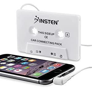 Insten Car Cassette Tape Deck Adapter Compatible with 3.5mm Jack Audio MP3/CD Player