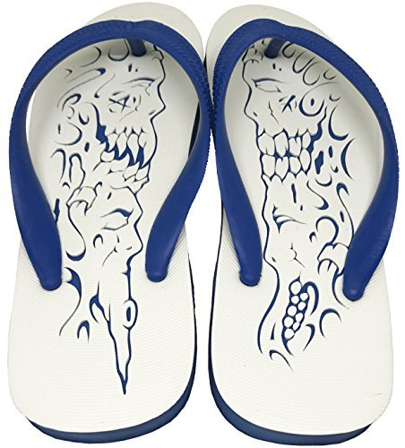 LTS Blue Ghost&Devil Custom Rubber Flip-Flops Sandals Comfort Slippers
