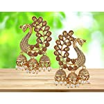 MEENAZ Traditional Gold Plated Pearl Moti Peacock Jhumki Jhumka Earrings for Women Girl Stylish latest design