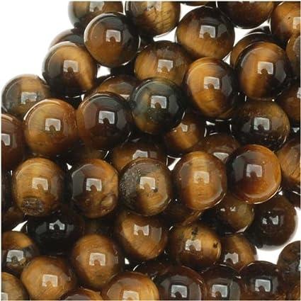 amazon com tiger tigers eye gem round 6 6 5mm beads 15 5 brown