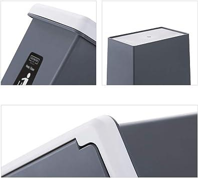 YULAN Cubos De Basura Toque el Tipo de Papelera Papelera de Basura Papelera de Basura 10L con Tapa Tapa de Papel Cocina Estrecha Sala de Estar Baño 2 Color 25.7 * 16.3 *
