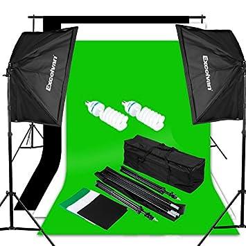 Excelvan Photography Video Studio Lighting Kit 1250W Soft Box W/3 Background Backdrop White Black  sc 1 st  Amazon.com & Amazon.com : Excelvan Photography Video Studio Lighting Kit 1250W ... azcodes.com