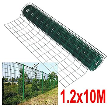 Outdoortips Green PVC Coated Welded Mesh Fencing Wire Garden Rabbit ...