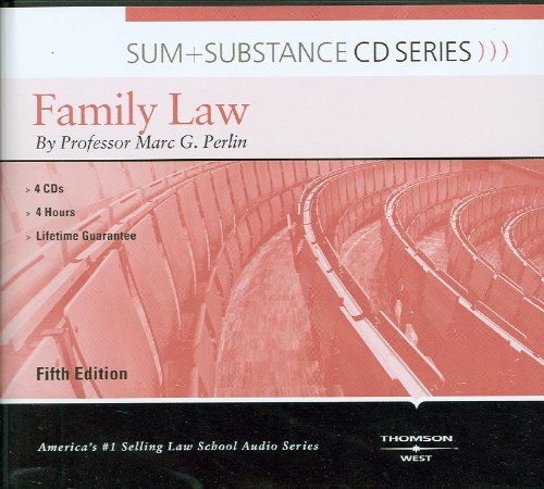 Sum and Substance Audio on Family Law, 5th (CD) (Sum + Substance Cd Series)