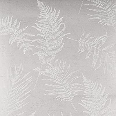 Nice Houzz Modern Floral Wallpaper,Low-foaming Gravure Wall Covering,White Pteris Leaf Pattern Wall Papers for Living Room,Bedroom