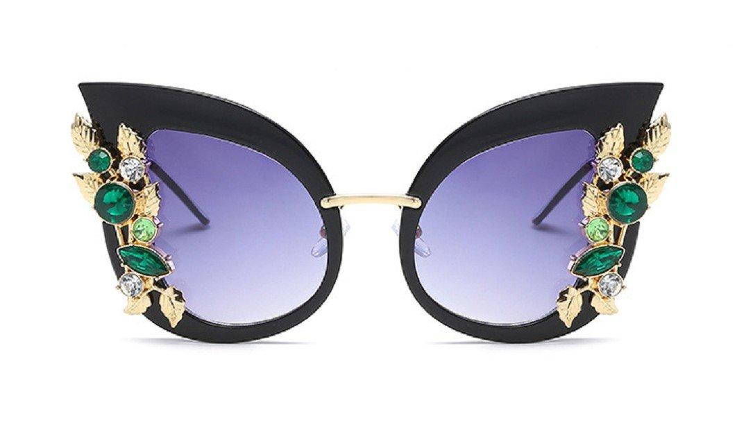 28f577ecc2 Amazon.com  YABINA Luxury Sunglasses Women Inlaid Rhinestone Retro ...