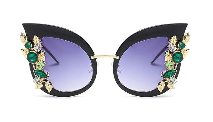 Amazon.com: YABINA - Gafas de sol de lujo para mujer, con ...